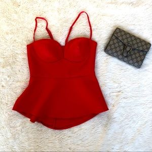 Kendall & Kylie Red Bustier Top